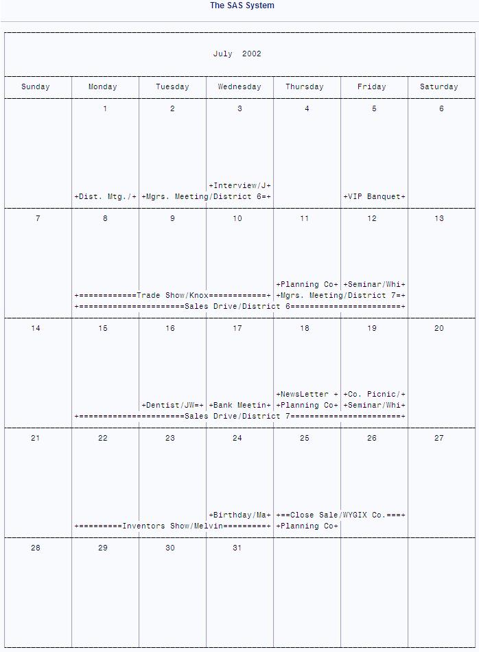 overview  proc calendar    base sas r  9 3 procedures