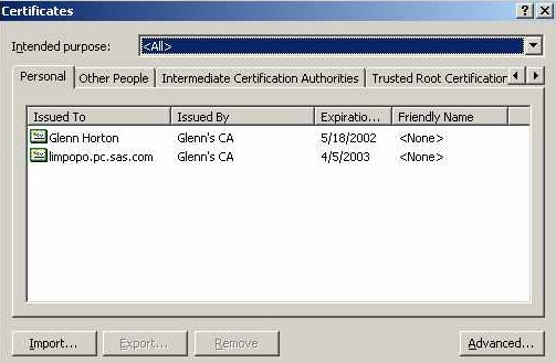 TLS on Windows: Setting Up Digital Certificates :: Encryption in SAS ...