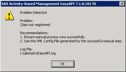 30846 easyapi fails with class not registered error in a sas