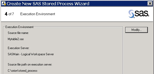 how to create stored process in sas