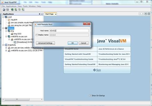 monitor java machine