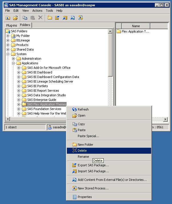 46875 configuration of the sas flex application themes might fail