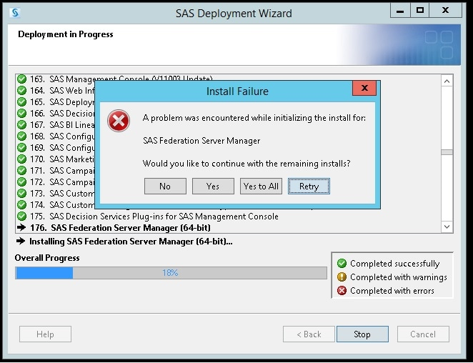 58085 - The SAS® Deployment Wizard might fail if a Java Runtime
