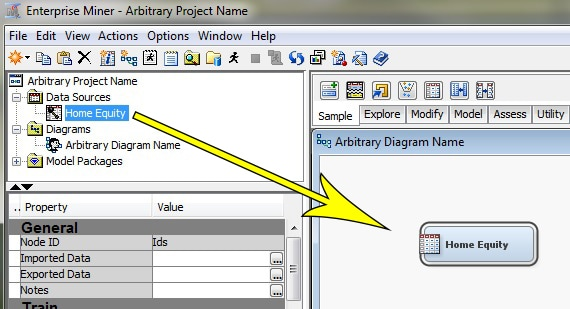58371 perform a sample project test within sas enterprise minertm drag the home equity data source from the project panel to the diagram ccuart Images