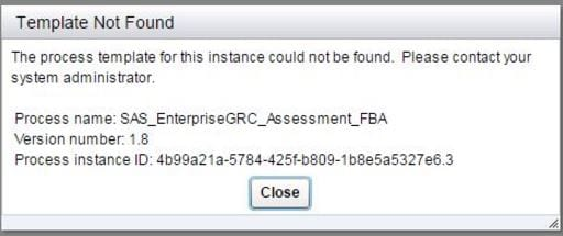 58554 template not found error occurs when you view a workflow