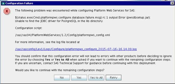 58840 a configuration failure error appears when you try to