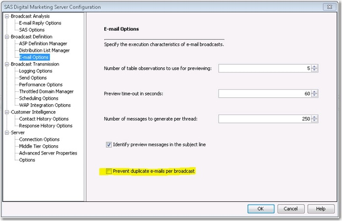 60567 managing duplicate broadcasts of emails and sms messages in