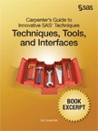 Carpenter's Guide to Innovative SAS Techniques Book Excertps cover