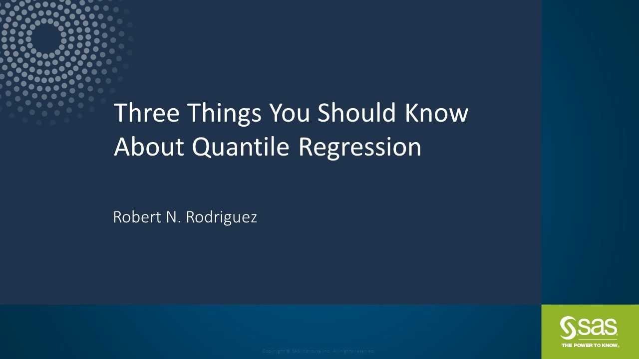 Three Things You Should Know about Quantile Regression