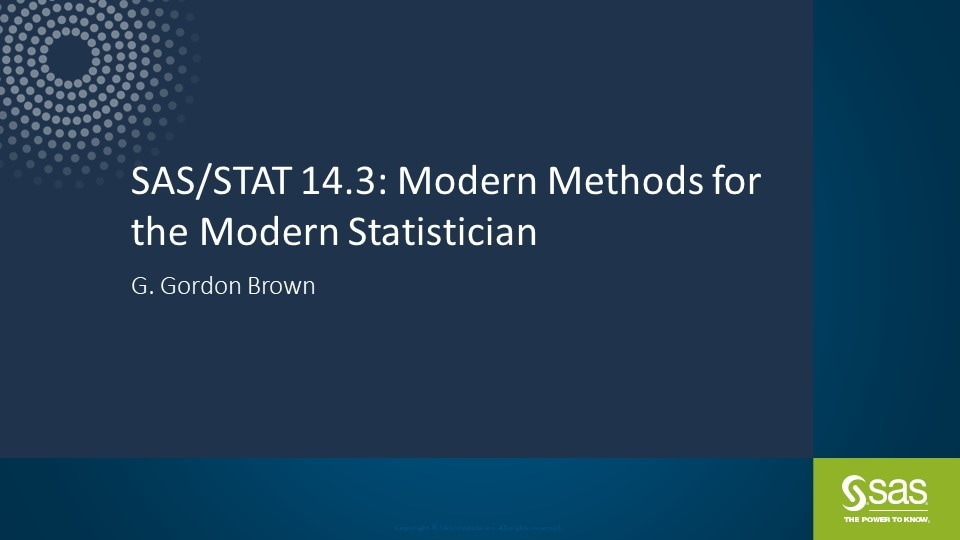 What's New in SAS/STAT 14.3
