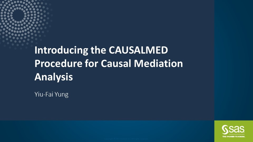 Introducing the CAUSALMED Procedure for Causal Mediation Analysis