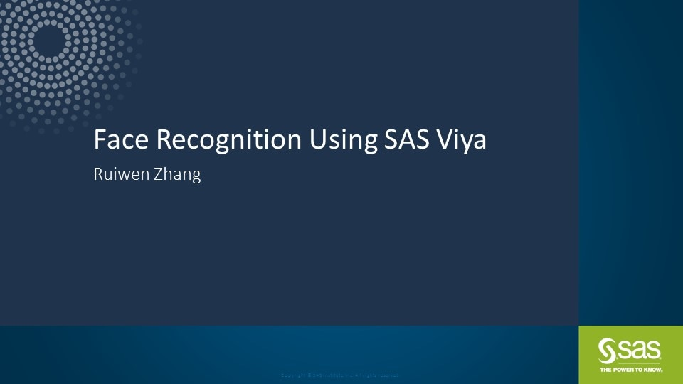 Face Recognition Using SAS Viya