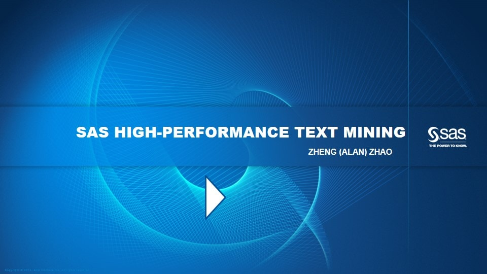 SAS High-Performance Text Mining