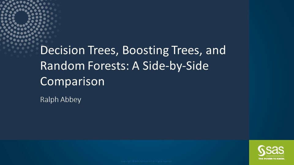 Decision Trees, Boosting Trees, and Random Forests: A Side-by-Side Comparison