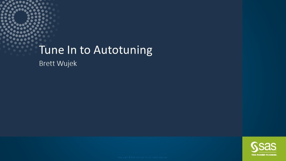 Tune In to Autotuning
