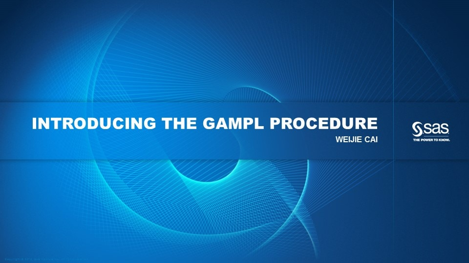 Introducing the GAMPL Procedure