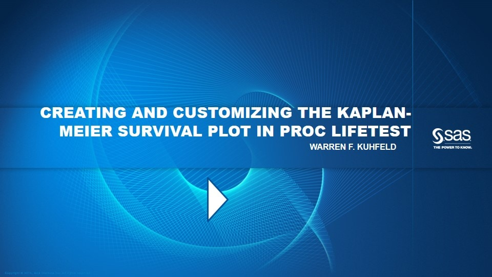 Creating and Customizing the Kaplan-Meier Survival Plot in PROC LIFETEST
