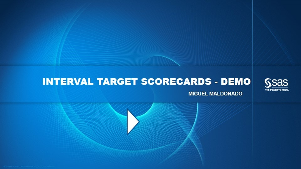 Interval Target Scorecards - Demo