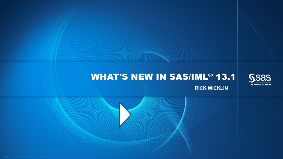 What's New in SAS/IML 13.1