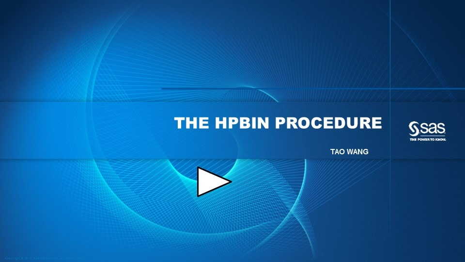 The HPBIN Procedure