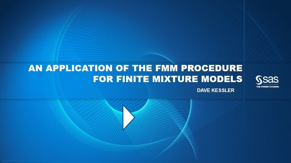 An Application of the FMM Procedure for Finite Mixture Models