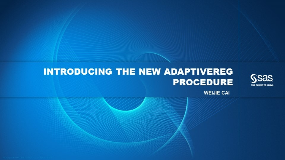 Introducing the New ADAPTIVEREG Procedure