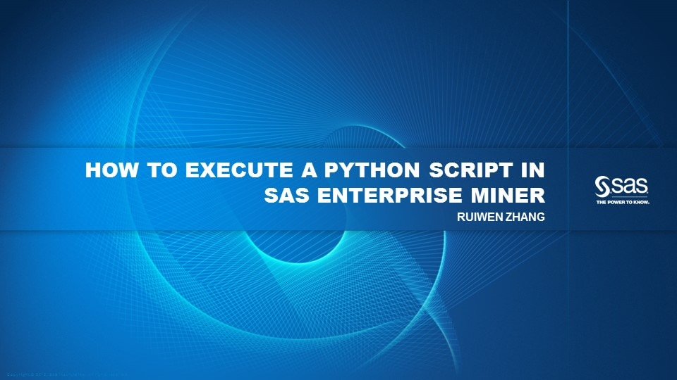 How to Execute a Python Script in SAS Enterprise Miner