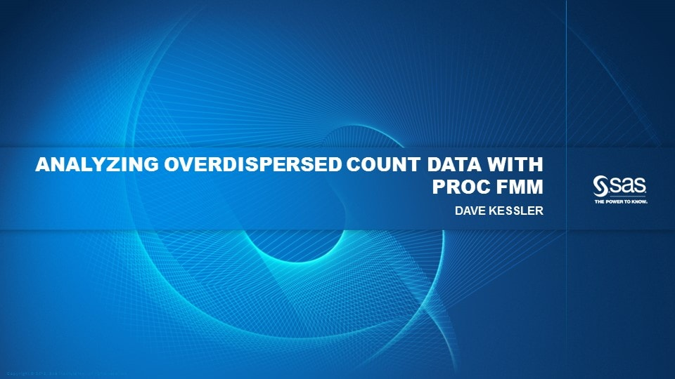 Analyzing Overdispersed Count Data with PROC FMM