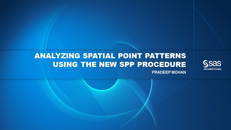 Analyzing Spatial Point Patterns Using the New SPP Procedure