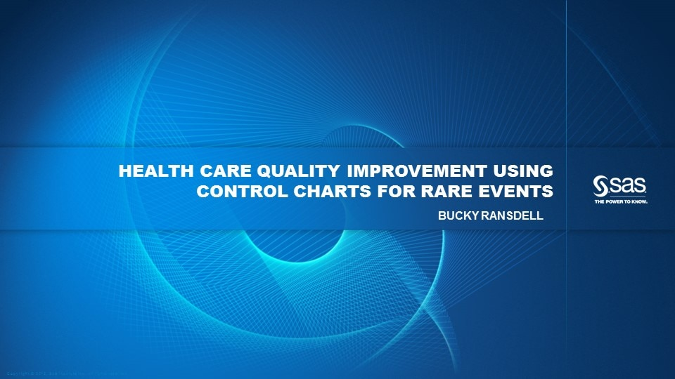 Health Care Quality Improvement Using Control Charts for Rare Events