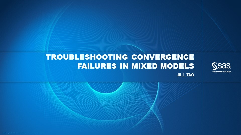 Troubleshooting Convergence Failures In Mixed Models