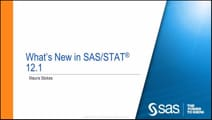 What's New in SAS/STAT 12.1