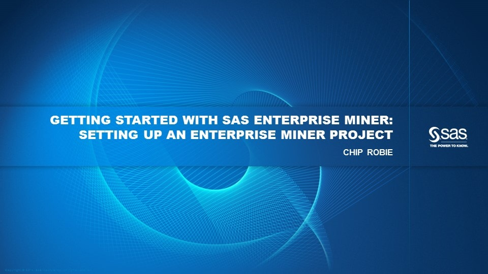 Setting Up an Enterprise Miner Project
