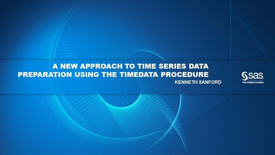 A New Approach To Time Series Data Preparation using the TIMEDATA Procedure