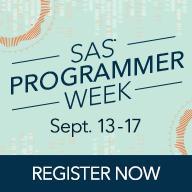 SAS Programmer Week