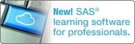 SAS learning software for professionals