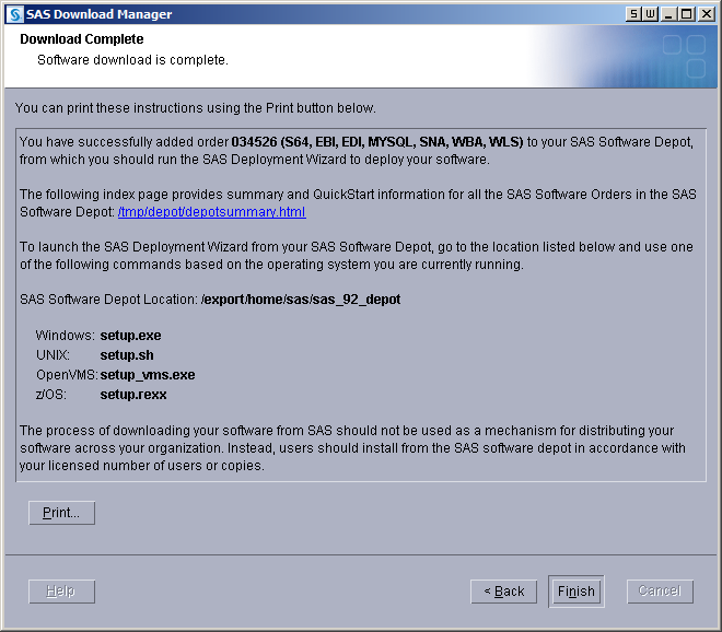 Creating SAS Software Depots :: SAS(R) 9 3 Intelligence