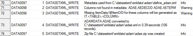 CDISC Dataset-XML :: SAS(R) Clinical Standards Toolkit 1 7