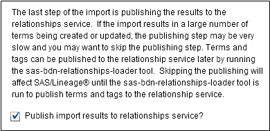Importing Terms from CSV Files :: SAS® Business Data Network