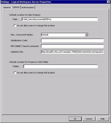 Updating WebDAV Paths :: SAS(R) Enterprise Miner(TM) 12 3