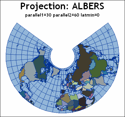 About Types of Map Projections :: SAS/GRAPH(R) 9 3