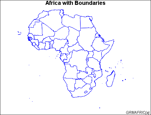 Map Of Africa Outline.Creating An Outline Map Of Africa Sas Graph R 9 3 Reference