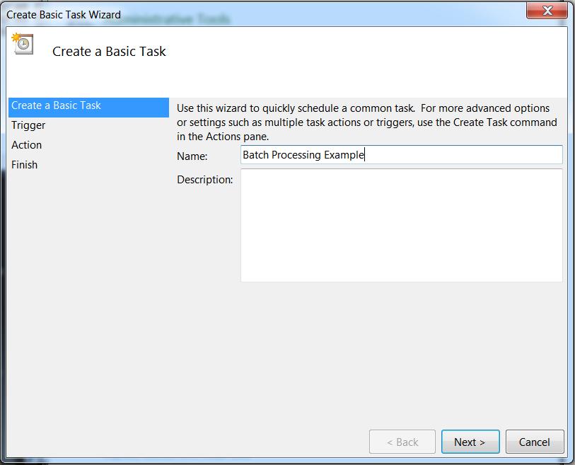 Creating A Basic Task