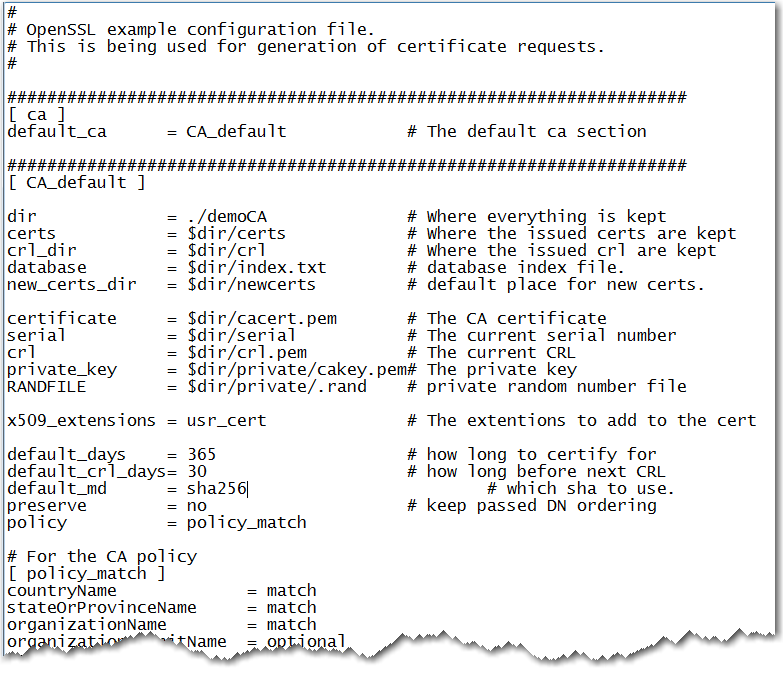 Setting Up Digital Certificates Using OpenSSL :: Encryption in SAS