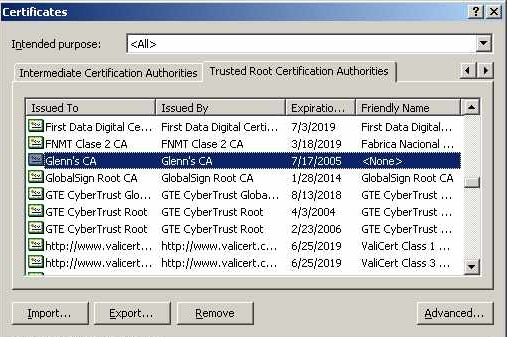 Where is certificate store