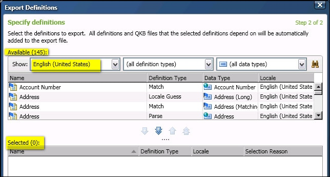 Exporting and Importing QKB Definitions