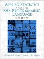 Applied Statistics and the SAS Programming Language, 5th Ed.