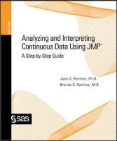 Analyzing and Interpreting Continuous Data Using JMP: A Step-by-Step Guide