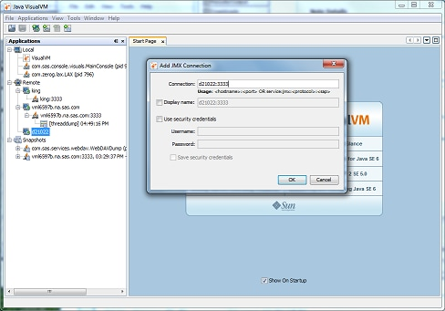42373 - Using the jvisualvm tool to remotely monitor a Java