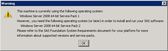 50178 - Service pack warnings that might occur when you are